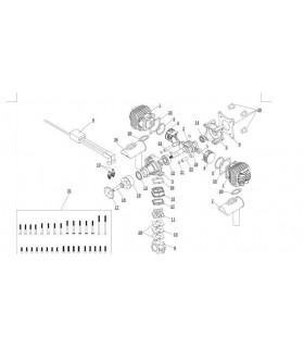 EME35 Benzínový jednoválcový motor - startér